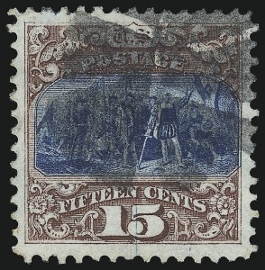 Sale Number 1033, Lot Number 4060, 1869 Pictorial Issue and 1875 Re-Issue (Scott 113-131)15c Brown & Blue, Ty. I (118), 15c Brown & Blue, Ty. I (118)
