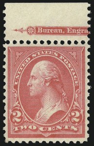 Sale Number 1033, Lot Number 4153, 1894-98 Bureau Issues (Scott 249-283)2c Carmine, Ty. III, Imperforate (267a), 2c Carmine, Ty. III, Imperforate (267a)