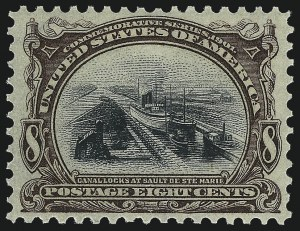 Sale Number 1033, Lot Number 4169, 1898 Trans-Mississippi and 1901 Pan American Issues (Scott 286-298)8c Pan-American (298), 8c Pan-American (298)