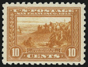 Sale Number 1033, Lot Number 4217, 1913 Panama Pacific thru Later Issues (Scott 400-679)10c Panama-Pacific, Perf 10 (404), 10c Panama-Pacific, Perf 10 (404)