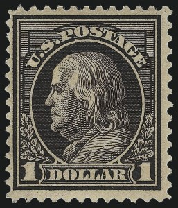 Sale Number 1033, Lot Number 4220, 1913 Panama Pacific thru Later Issues (Scott 400-679)$1.00 Violet Brown (423), $1.00 Violet Brown (423)