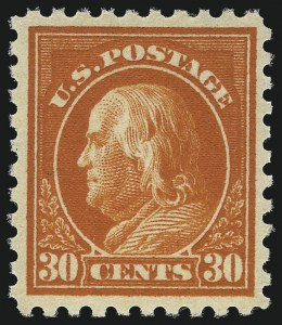 Sale Number 1033, Lot Number 4221, 1913 Panama Pacific thru Later Issues (Scott 400-679)30c Orange Red (439), 30c Orange Red (439)