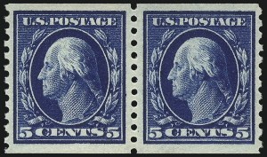Sale Number 1033, Lot Number 4226, 1913 Panama Pacific thru Later Issues (Scott 400-679)5c Blue, Coil (447), 5c Blue, Coil (447)