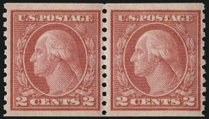 Sale Number 1033, Lot Number 4230, 1913 Panama Pacific thru Later Issues (Scott 400-679)2c Red, Ty. II, Coil (454), 2c Red, Ty. II, Coil (454)