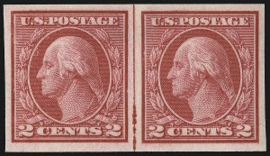 Sale Number 1033, Lot Number 4232, 1913 Panama Pacific thru Later Issues (Scott 400-679)2c Carmine, Ty. I, Imperforate Coil (459), 2c Carmine, Ty. I, Imperforate Coil (459)