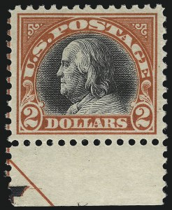 Sale Number 1033, Lot Number 4243, 1913 Panama Pacific thru Later Issues (Scott 400-679)$2.00 Orange Red & Black (523), $2.00 Orange Red & Black (523)