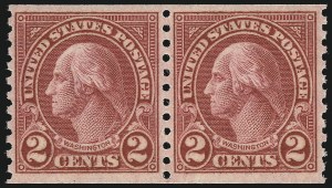 Sale Number 1033, Lot Number 4249, 1913 Panama Pacific thru Later Issues (Scott 400-679)2c Carmine, Ty. II, Coil (599A), 2c Carmine, Ty. II, Coil (599A)