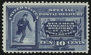 Sale Number 1033, Lot Number 4260, Air Post, Special Delivery, Official Seals10c Blue, Special Delivery (E2), 10c Blue, Special Delivery (E2)