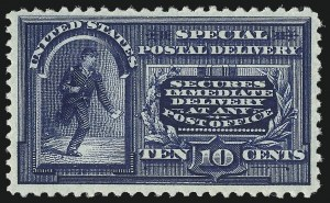 Sale Number 1033, Lot Number 4261, Air Post, Special Delivery, Official Seals10c Blue, Special Delivery (E4), 10c Blue, Special Delivery (E4)