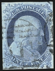 Sale Number 1034, Lot Number 10, 1c 1851-56 Issue (Scott 5-9)1c Blue, Ty. Ib (5A), 1c Blue, Ty. Ib (5A)