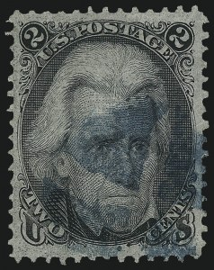 Sale Number 1034, Lot Number 104, 1867-68 Grilled Issue (Scott 79-101)2c Black, F. Grill (93), 2c Black, F. Grill (93)