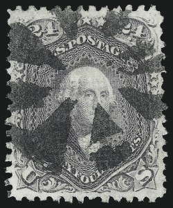 Sale Number 1034, Lot Number 110, 1867-68 Grilled Issue (Scott 79-101)24c Gray Lilac, F. Grill (99), 24c Gray Lilac, F. Grill (99)