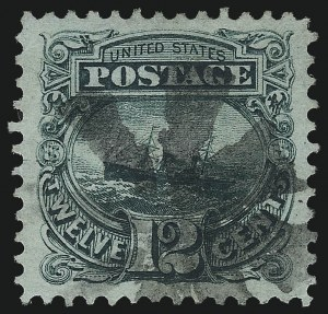Sale Number 1034, Lot Number 126, 1869 Pictorial Issue and 1875 Re-Issue (Scott 112-131)12c Green (117), 12c Green (117)
