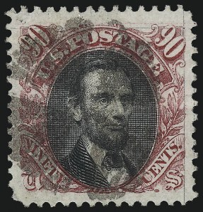 Sale Number 1034, Lot Number 131, 1869 Pictorial Issue and 1875 Re-Issue (Scott 112-131)90c Carmine & Black (122), 90c Carmine & Black (122)
