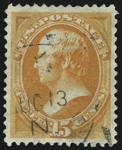 Sale Number 1034, Lot Number 164, 1870-88 Bank Note Issues (Scott 146-218)15c Yellow Orange (163), 15c Yellow Orange (163)
