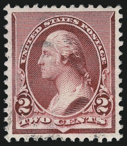Sale Number 1034, Lot Number 196, 1890-93 Issue (Scott 219-229)2c Lake (219D), 2c Lake (219D)