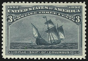 Sale Number 1034, Lot Number 211, 1893 Columbian Issue (Scott 230-245)3c Columbian (232), 3c Columbian (232)