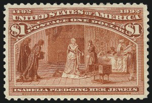 Sale Number 1034, Lot Number 221, 1893 Columbian Issue (Scott 230-245)$1.00 Columbian (241), $1.00 Columbian (241)