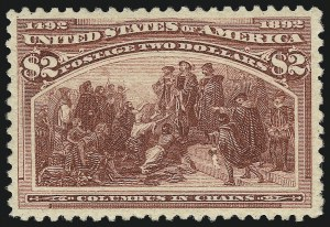 Sale Number 1034, Lot Number 222, 1893 Columbian Issue (Scott 230-245)$2.00 Columbian (242), $2.00 Columbian (242)
