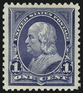 Sale Number 1034, Lot Number 227, 1894 Bureau Issue (Scott 246-263)1c Blue (247), 1c Blue (247)