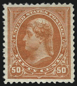 Sale Number 1034, Lot Number 240, 1894 Bureau Issue (Scott 246-263)50c Orange (260), 50c Orange (260)