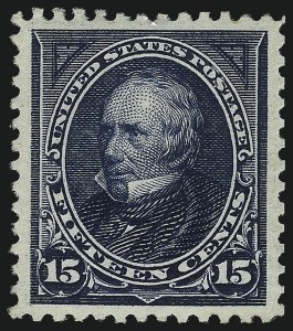 Sale Number 1034, Lot Number 256, 1895-98 Bureau Issues (Scott 264-284)15c Dark Blue (274), 15c Dark Blue (274)