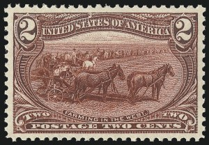 Sale Number 1034, Lot Number 272, 1898 Trans-Mississippi Issue (Scott 285-293)2c Trans-Mississippi (286), 2c Trans-Mississippi (286)