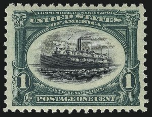 Sale Number 1034, Lot Number 280, 1901 Pan-American Issue with Inverts (Scott 294-299)1c Pan-American (294), 1c Pan-American (294)