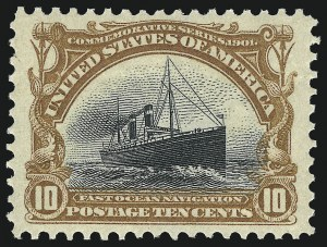 Sale Number 1034, Lot Number 286, 1901 Pan-American Issue with Inverts (Scott 294-299)10c Pan-American (299), 10c Pan-American (299)