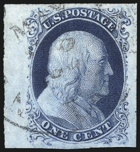 Sale Number 1034, Lot Number 29, 1c 1851-56 Issue (Scott 5-9)1c Blue, Ty. IIIa (8A), 1c Blue, Ty. IIIa (8A)