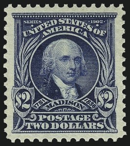 Sale Number 1034, Lot Number 304, 1902-08 Issues (Scott 300-320a)$2.00 Dark Blue (312), $2.00 Dark Blue (312)