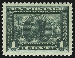 Sale Number 1034, Lot Number 370, 1913 Panama Pacific Issue (Scott 397-404)1c Panama-Pacific (397), 1c Panama-Pacific (397)