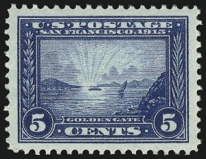 Sale Number 1034, Lot Number 372, 1913 Panama Pacific Issue (Scott 397-404)5c Panama-Pacific (399), 5c Panama-Pacific (399)