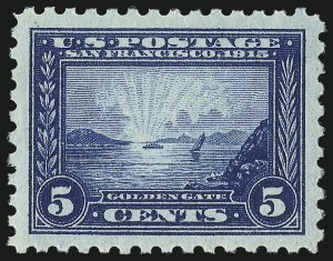 Sale Number 1034, Lot Number 377, 1913 Panama Pacific Issue (Scott 397-404)5c Panama-Pacific, Perf 10 (403), 5c Panama-Pacific, Perf 10 (403)