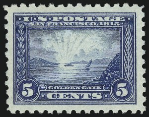 Sale Number 1034, Lot Number 378, 1913 Panama Pacific Issue (Scott 397-404)5c Panama-Pacific, Perf 10 (403), 5c Panama-Pacific, Perf 10 (403)