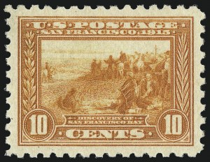 Sale Number 1034, Lot Number 379, 1913 Panama Pacific Issue (Scott 397-404)10c Panama-Pacific, Perf 10 (404), 10c Panama-Pacific, Perf 10 (404)