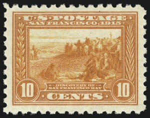 Sale Number 1034, Lot Number 380, 1913 Panama Pacific Issue (Scott 397-404)10c Panama-Pacific, Perf 10 (404), 10c Panama-Pacific, Perf 10 (404)