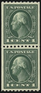 Sale Number 1034, Lot Number 410, 1914-17 Washington-Franklin Issues (Scott 441-485)1c Green, Coil (441), 1c Green, Coil (441)