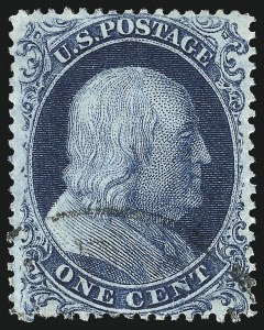 Sale Number 1034, Lot Number 42, 1857-60 Issue and 1875 Reprint (Scott 18-47)1c Blue, Ty. Ia (19), 1c Blue, Ty. Ia (19)