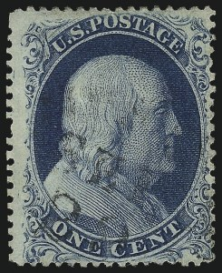 Sale Number 1034, Lot Number 43, 1857-60 Issue and 1875 Reprint (Scott 18-47)1c Blue, Ty. Ic (19b), 1c Blue, Ty. Ic (19b)