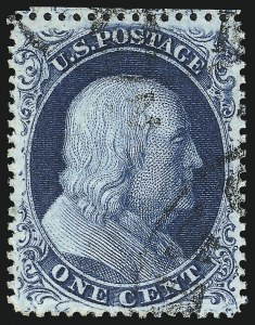 Sale Number 1034, Lot Number 45, 1857-60 Issue and 1875 Reprint (Scott 18-47)1c Blue, Ty. III (21), 1c Blue, Ty. III (21)