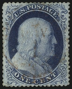 Sale Number 1034, Lot Number 46, 1857-60 Issue and 1875 Reprint (Scott 18-47)1c Blue, Ty. III (21), 1c Blue, Ty. III (21)