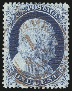 Sale Number 1034, Lot Number 48, 1857-60 Issue and 1875 Reprint (Scott 18-47)1c Blue, Ty. IV (23), 1c Blue, Ty. IV (23)