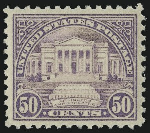 Sale Number 1034, Lot Number 494, 1922-25 Issue and Later Issues (Scott 550-834)50c Lilac (570), 50c Lilac (570)