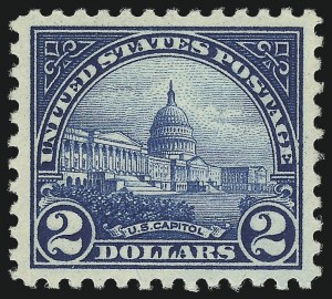 Sale Number 1034, Lot Number 496, 1922-25 Issue and Later Issues (Scott 550-834)$2.00 Deep Blue (572), $2.00 Deep Blue (572)