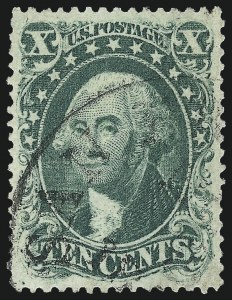 Sale Number 1034, Lot Number 59, 1857-60 Issue and 1875 Reprint (Scott 18-47)10c Green, Ty. I (31), 10c Green, Ty. I (31)