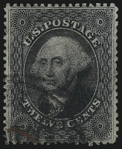 Sale Number 1034, Lot Number 65, 1857-60 Issue and 1875 Reprint (Scott 18-47)12c Black, Plate 3 (36B), 12c Black, Plate 3 (36B)