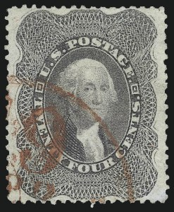 Sale Number 1034, Lot Number 66, 1857-60 Issue and 1875 Reprint (Scott 18-47)24c Gray Lilac (37), 24c Gray Lilac (37)