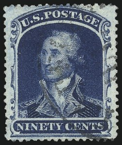 Sale Number 1034, Lot Number 68, 1857-60 Issue and 1875 Reprint (Scott 18-47)90c Blue (39), 90c Blue (39)