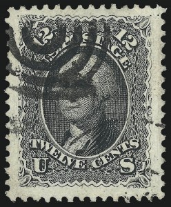 Sale Number 1034, Lot Number 79, 1861-66 Issue (Scott 62B-78)12c Black (69), 12c Black (69)